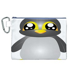 Cute Penguin Animal Canvas Cosmetic Bag (xl) by Nexatart