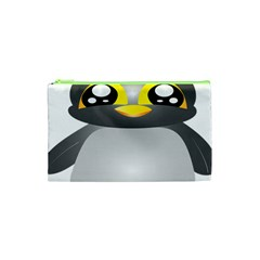 Cute Penguin Animal Cosmetic Bag (xs) by Nexatart