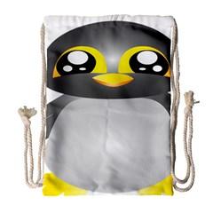 Cute Penguin Animal Drawstring Bag (large) by Nexatart