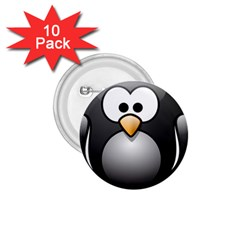 Penguin Birds Aquatic Flightless 1 75  Buttons (10 Pack) by Nexatart