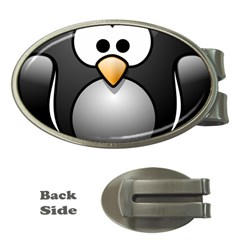 Penguin Birds Aquatic Flightless Money Clips (oval)  by Nexatart