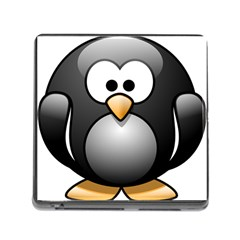 Penguin Birds Aquatic Flightless Memory Card Reader (square)