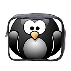 Penguin Birds Aquatic Flightless Mini Toiletries Bag 2 Side