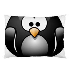 Penguin Birds Aquatic Flightless Pillow Case (two Sides)