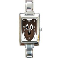 Dog Pup Animal Canine Brown Pet Rectangle Italian Charm Watch by Nexatart