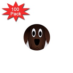 Dog Pup Animal Canine Brown Pet 1  Mini Buttons (100 Pack)
