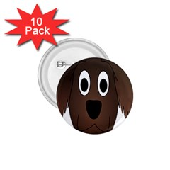 Dog Pup Animal Canine Brown Pet 1 75  Buttons (10 Pack)