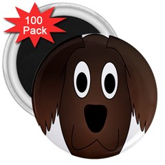 Dog Pup Animal Canine Brown Pet 3  Magnets (100 Pack)