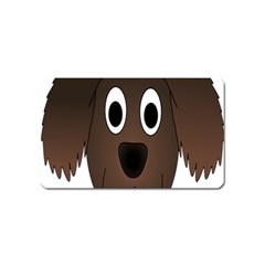 Dog Pup Animal Canine Brown Pet Magnet (name Card) by Nexatart