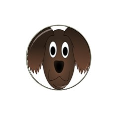 Dog Pup Animal Canine Brown Pet Hat Clip Ball Marker (4 Pack) by Nexatart