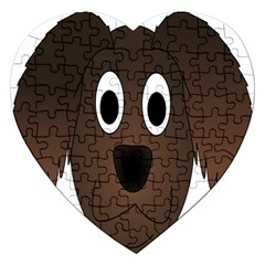 Dog Pup Animal Canine Brown Pet Jigsaw Puzzle (heart)