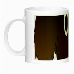 Dog Pup Animal Canine Brown Pet Night Luminous Mugs