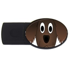 Dog Pup Animal Canine Brown Pet Usb Flash Drive Oval (4 Gb) by Nexatart