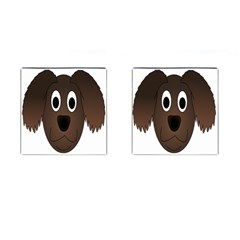 Dog Pup Animal Canine Brown Pet Cufflinks (square)