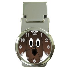 Dog Pup Animal Canine Brown Pet Money Clip Watches by Nexatart