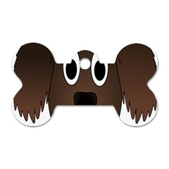 Dog Pup Animal Canine Brown Pet Dog Tag Bone (two Sides)