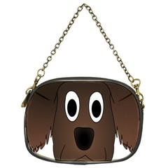 Dog Pup Animal Canine Brown Pet Chain Purses (one Side)