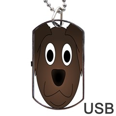 Dog Pup Animal Canine Brown Pet Dog Tag Usb Flash (two Sides) by Nexatart