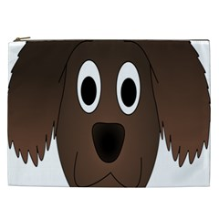 Dog Pup Animal Canine Brown Pet Cosmetic Bag (xxl)  by Nexatart