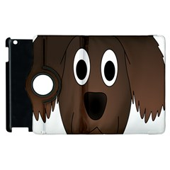 Dog Pup Animal Canine Brown Pet Apple Ipad 3/4 Flip 360 Case by Nexatart