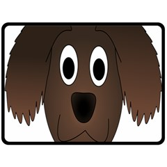 Dog Pup Animal Canine Brown Pet Double Sided Fleece Blanket (large)  by Nexatart