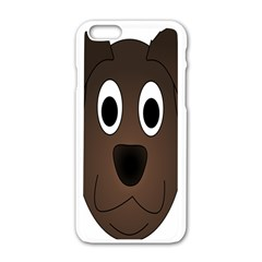 Dog Pup Animal Canine Brown Pet Apple Iphone 6/6s White Enamel Case