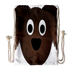 Dog Pup Animal Canine Brown Pet Drawstring Bag (large) by Nexatart