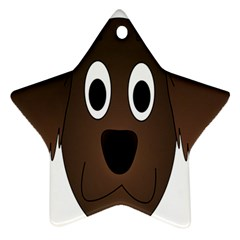 Dog Pup Animal Canine Brown Pet Ornament (star)
