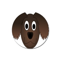 Dog Pup Animal Canine Brown Pet Magnet 3  (round) by Nexatart