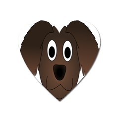 Dog Pup Animal Canine Brown Pet Heart Magnet by Nexatart