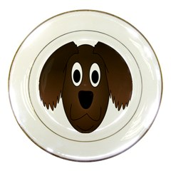 Dog Pup Animal Canine Brown Pet Porcelain Plates by Nexatart