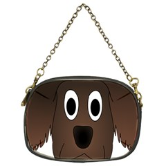 Dog Pup Animal Canine Brown Pet Chain Purses (two Sides)