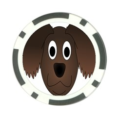 Dog Pup Animal Canine Brown Pet Poker Chip Card Guard (10 Pack)