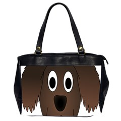 Dog Pup Animal Canine Brown Pet Office Handbags (2 Sides)  by Nexatart