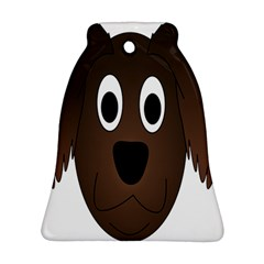 Dog Pup Animal Canine Brown Pet Bell Ornament (two Sides)
