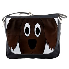 Dog Pup Animal Canine Brown Pet Messenger Bags by Nexatart