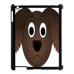 Dog Pup Animal Canine Brown Pet Apple Ipad 3/4 Case (black) by Nexatart
