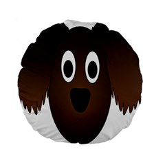 Dog Pup Animal Canine Brown Pet Standard 15  Premium Flano Round Cushions