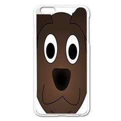 Dog Pup Animal Canine Brown Pet Apple Iphone 6 Plus/6s Plus Enamel White Case