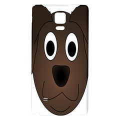 Dog Pup Animal Canine Brown Pet Galaxy Note 4 Back Case by Nexatart