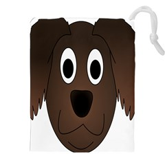 Dog Pup Animal Canine Brown Pet Drawstring Pouches (xxl)