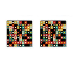 Colors On Black Cufflinks (square) by linceazul