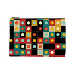 Colors On Black Cosmetic Bag (large)  by linceazul