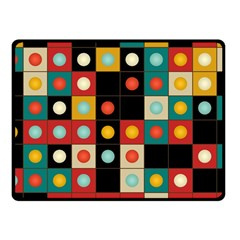 Colors On Black Fleece Blanket (small) by linceazul