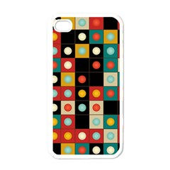 Colors On Black Apple Iphone 4 Case (white) by linceazul