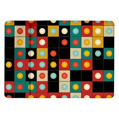 Colors On Black Samsung Galaxy Tab 10 1  P7500 Flip Case by linceazul