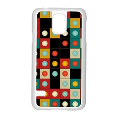 Colors On Black Samsung Galaxy S5 Case (white) by linceazul