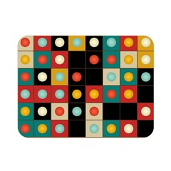 Colors On Black Double Sided Flano Blanket (mini)  by linceazul