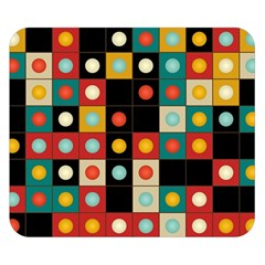 Colors On Black Double Sided Flano Blanket (small)  by linceazul
