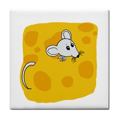 Rat Mouse Cheese Animal Mammal Tile Coasters by Nexatart
